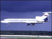 Самолет Ту-154, который разбился под Ростовом-на-Дону