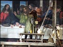 Leonardo da Vinci paints The Last Supper in the BBC production