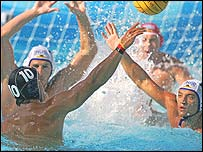Russia v Germany water polo