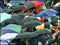 Umbrellas out in force at Wimbledon this summer