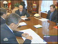 На совещании в Кремле (съемки НТВ)