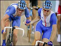 Rob Hayles (left) takes over from Bradley Wiggins in the madison