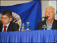 Jimmy Carter y C�sar Gaviria