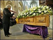 Sir Peter Ustinov's funeral service
