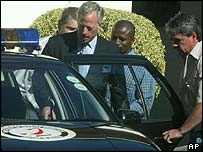 Mark Thatcher was arrested on Wednesday at his Cape Town home