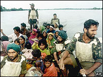 Flood victims rescued in Bihar