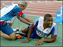 British sprinter Darren Campbell