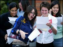 Pupils in Manchester getting results on Thursday