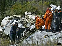 Rescuers at Tu-134 crash site in Tula region