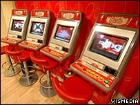 Roulettte machines in a Ladbrokes shop