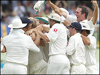 England rejoice in Barbados