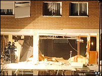 Blown up apartment in Leganes