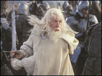 Sir Ian McKellan as Gandalf
