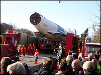 Concorde loaded on specialist barge