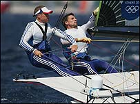 GB 49er sailors Chris Draper and Simon Hiscocks