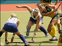 Action from the Australia v New Zealand fifth-place play-off