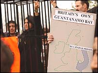 Protesters outside Belmarsh Prison