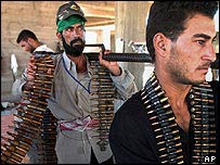 Militiamen of Mr Sadr's Mehdi Army