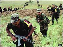 Farc rebel fighters