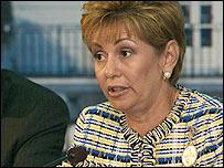 Mireya Moscoso, presidenta de Panamá