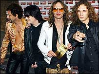 The Darkness arrive at the Kerrang! awards