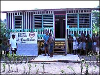 E-mail station in the Solomon Islands