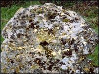 A vandalised stone