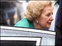 Baroness Thatcher arrives home on Friday