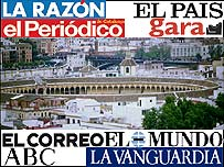 Spanish press graphic