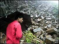 A landslide near Mumbai (Bombay)