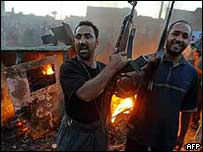 Shia gunmen in Sadr City