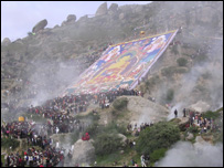 Shoton festival at Drepung monastery