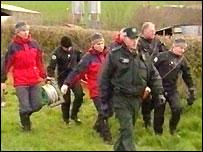 Specialist search teams found the body hidden underground