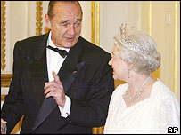 President Jacques Chirac and the Queen