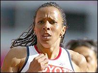 Kelly Holmes has often grimaced her way through races