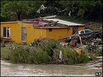 Flood damage in northern Mexico