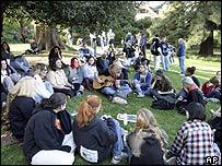 Cobain vigil, Viretta Park