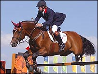 Great Britain's Nick Skelton just missed a medal