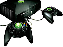 Microsoft Xbox and controller