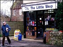 Small corner shop
