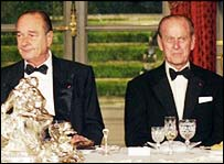 Jacques Chirac and Prince Phillip