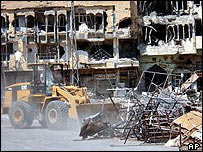 Bulldozer clears up in Najaf