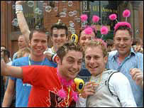 Participants at Manchester Pride 2003