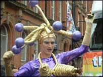 Parade entrant for Manchester Pride