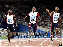 Corredores de los 200 metros en Atenas 2004