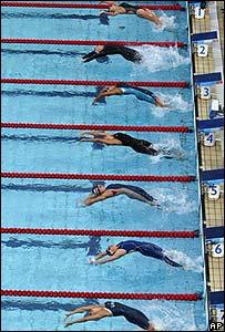 Nadadores en las Olimp�adas 2004