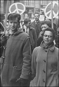 Rene Henry (now Gill) and then fiancé David Gill on the first Aldermaston march