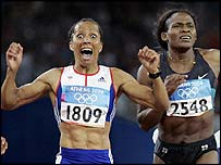Holmes grabbed her first gold in the 800m on Monday