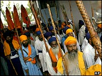 Sikh marchers
