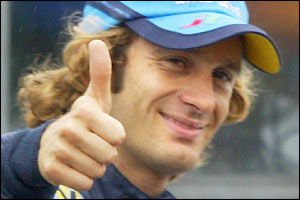Jarno Trulli starts at the front of the grid for Sunday's Belgian Grand Prix